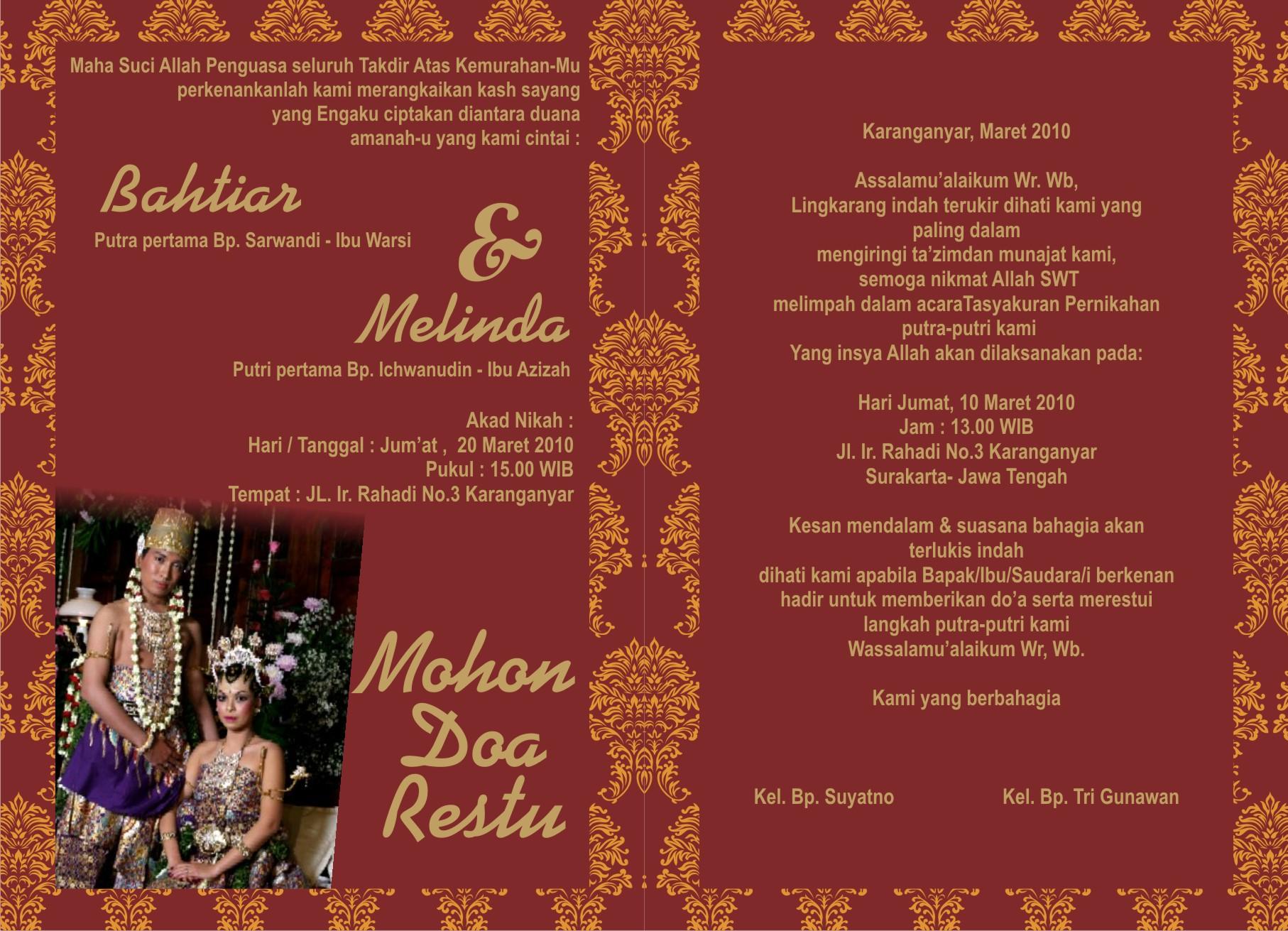 undangan pernikahan bahasa jawa krama alus